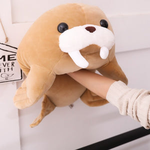 Look how soft and squishy these walrus plushies are!
