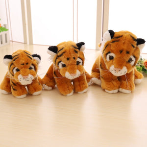 brown tiger cub plushie with three different sizes cute for present
