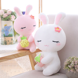 Do you like pink bunny plushie or white bunny plushie more?