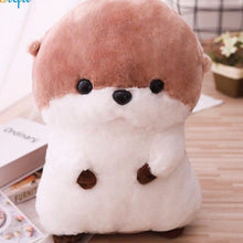 Load image into Gallery viewer, cute coffee colour sea otter plush toy stuffed animal