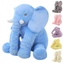 Load image into Gallery viewer, Cute elephant plush in blue because why not?