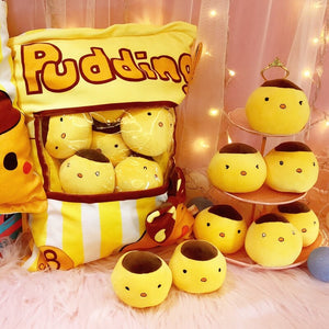 Cute Chicken Pudding Plushie Snack Bag 10*10CM