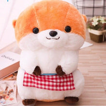 Load image into Gallery viewer, brown cute sea otter plush toy with a cute smiler to enlighten your day