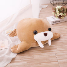Load image into Gallery viewer, Brown Walrus Plushie 45/55CM