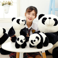 Load image into Gallery viewer, This cute giant kneeling panda plushie are safe for babies to use.