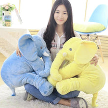 Load image into Gallery viewer, Would you want this cute elephant plush in blue or yellow?