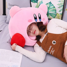 Load image into Gallery viewer, cute kirby pillow plushie perfect for napping