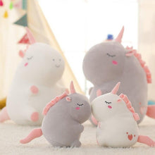 Load image into Gallery viewer, cute fat unicorn plushie with cute little pink tail