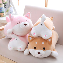Load image into Gallery viewer, pink and brown squishy fat shiba inu plushies