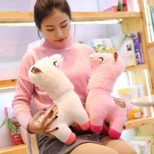 Load image into Gallery viewer, white and pink alpaca llama plushies