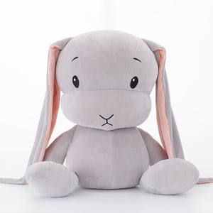 cute grey bunny plush toy