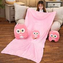 Load image into Gallery viewer, A family of cute pink owl plushie to make your room more complete