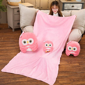 A family of cute pink owl plushie to make your room more complete