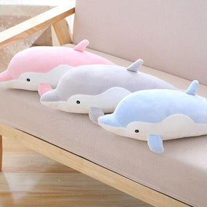 giant dolphin 80cm cute pink blue grey plushie plush toy high quality stuffed animal soft fluffy