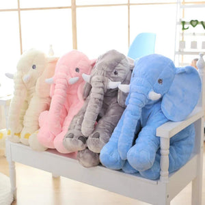 4 cute elephant plush in a row.