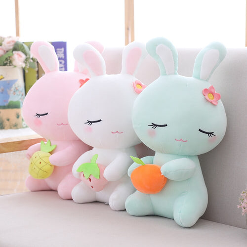 This cute easter bunny plushie is way too adorable to not bring it home!