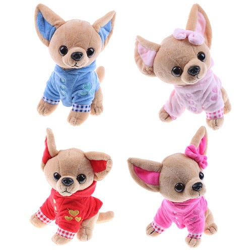 This cute chihuahua puppy plushie is way too adorable. Not forgiven for being so cute.