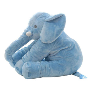 cute elephant plush in blue