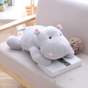 grey hippo plush toy for kids girlfriends and partners
