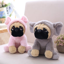 Load image into Gallery viewer, cute pug in pig plushie and cute pug in elephant plushie