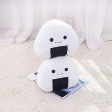 Load image into Gallery viewer, Japanese Sushi White rice roll plushie. How irresistible! Collect this and make your mini Japan world.