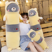 Load image into Gallery viewer, grey bear long pillow plushies