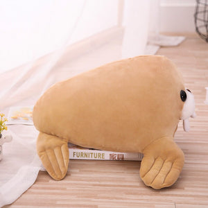 Give me some love and hugs please, say baby walrus plushie