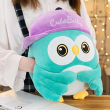 Load image into Gallery viewer, This cute tiffany blue owl plushie help keeps your hand warm in winter.