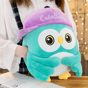 This cute tiffany blue owl plushie help keeps your hand warm in winter.