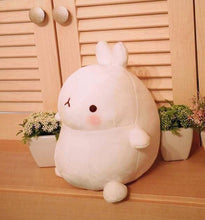 Load image into Gallery viewer, side view of cute molang rabbit plushie round and perfect for gift