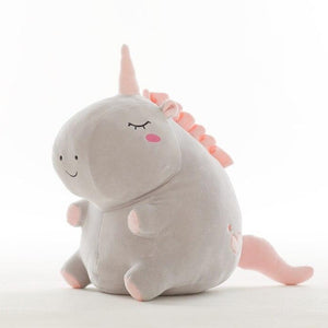cute fat grey unicorn plush toy perfect gift for friends and family