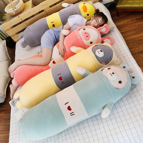 family of long pillows (bolsters) plushies