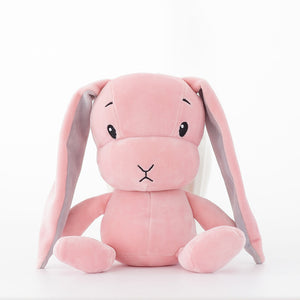 cute pink bunny plush toy