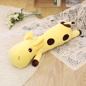 long giraffe fluffy stuffed animal yellow cute plush toy