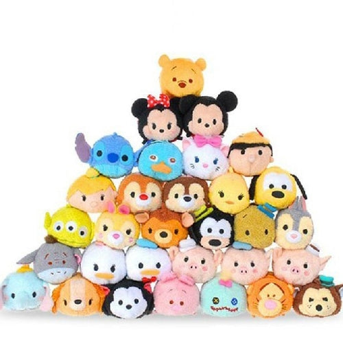 family of mini tsum tsum plushies