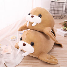 Load image into Gallery viewer, Look how soft and squishy these walrus plushies are!