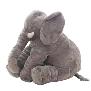 cute elephant plush in the colour its born with