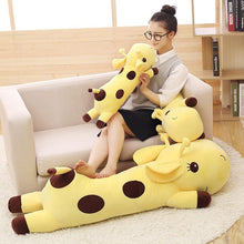 Load image into Gallery viewer, long giraffe fluffy stuffed animal yellow cute plush toy