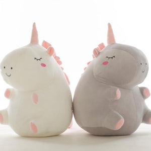 cute fat unicorn white and grey perfect gift for kids and partner