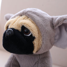 Load image into Gallery viewer, cute pug dog in elephant plushie