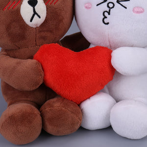 Cute Loving Couple Bear and Bunny Plushie 16CM