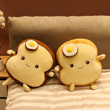 Load image into Gallery viewer, Cute toast plushie make friends!