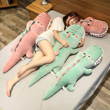 Load image into Gallery viewer, pink and green alligator and crocodile plushie