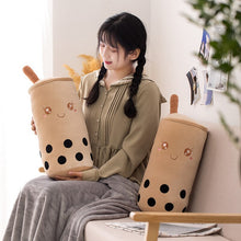 Load image into Gallery viewer, cute bubble milk tea plushie with blanket or without blanket