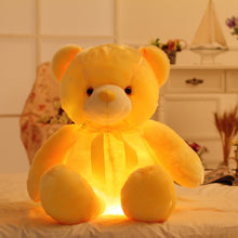 Load image into Gallery viewer, Romantic yellow lighted bear plushie
