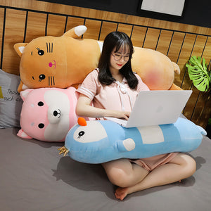 This cute cartoon bolster plushie will be the best gift for your friends/family.