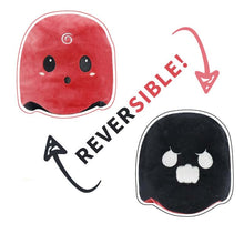 Load image into Gallery viewer, cute reversible ghost plush in red and black is the best way to express your mood of the day to your partner