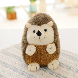 smiley cute hedgehog plushie standing