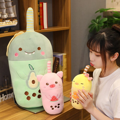 Cute mini bubble tea plushie