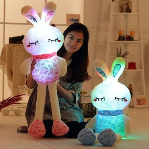 Cute rabbit plushie glowing in the dark!